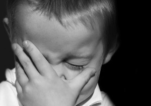 What does a new year mean to you - boy crying